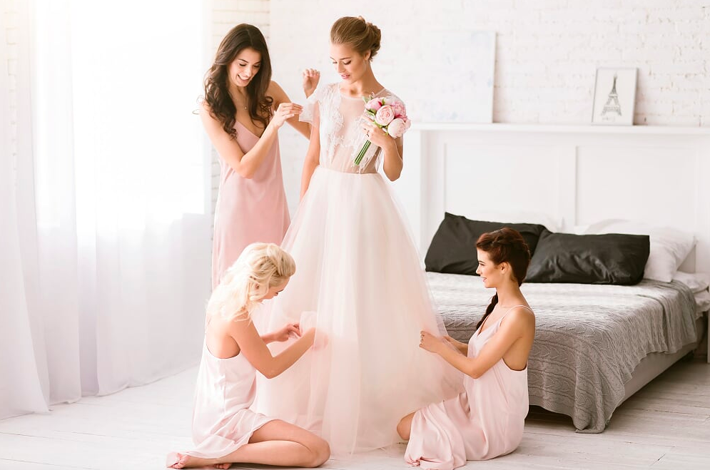 Caring for your dress throughout your wedding day
