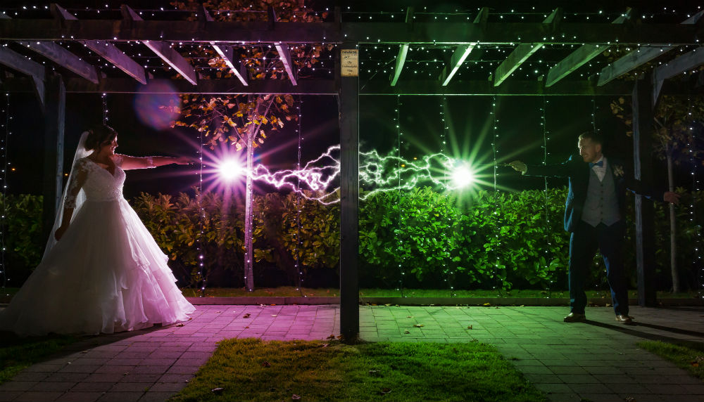 A spellbinding mix of superheroes and Harry Potter for Sabrina & Kevin's day